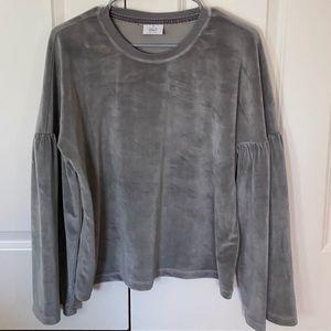 velvet grey shirt